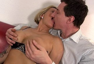 Hot German Housewife gets a rubdown increased by irregularly some