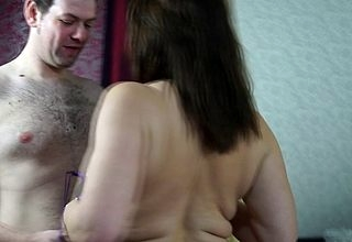 Gungho Heavy breasted British MILF shafting increased by sucking