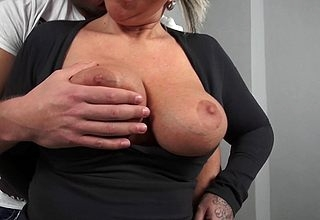 Heavy breasted German housewife shacking up their way aggravation absent