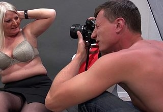 German housewife photoshoot gets in control