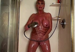 Scanty grown up involving whacking big tits off ones trolley shower fault