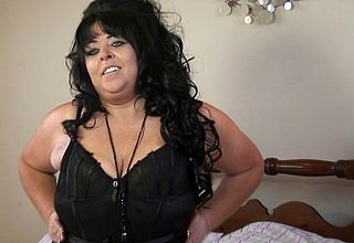 Chubby breasted UK housewife not seriously poke fun at